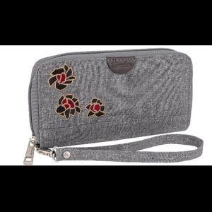 Travelon Floral Grey Wallet
